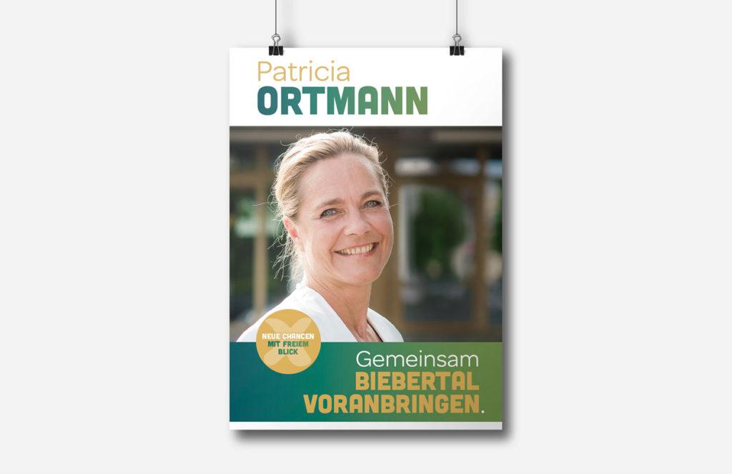 Werbekampagne für den Bürgermeisterwahlkampf von Patricia Ortmann
