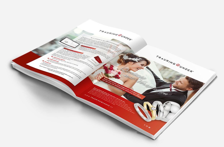 Neuer Katalog für Trauring Wunder aus Giessen von der Kreativagentur KROENUNG